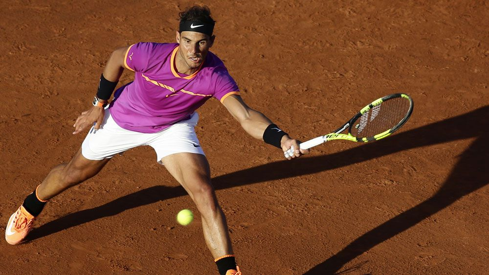 Rafael Nadal produces an unexplainable shot in the Barcelona Open