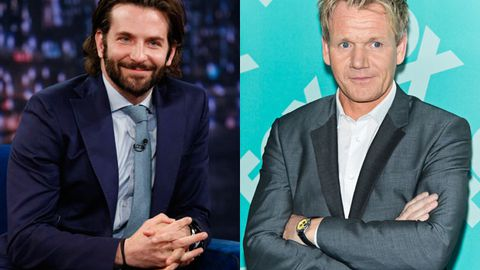 Bradley Cooper gets cooking lessons from Gordon Ramsey