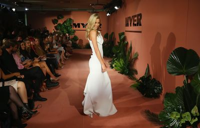 """<p><a href=""""https://style.nine.com.au/2018/08/13/08/41/jennifer-hawkins-leaves-myer"""" target=""""_blank"""" title=""""Jennifer Hawkins"""" draggable=""""false"""">Jennifer Hawkins</a> has strutted her stuff down the runway for Myer for the last time.</p> <p><a href=""""https://style.nine.com.au/2018/04/05/15/28/jennifer-hawkins-nic-cerrone-race-day-doncaster"""" target=""""_blank"""" title=""""The model """" draggable=""""false"""">The model </a>took to the catwalk last night in front of Sydney's style set for what will end Hawkins' 12 year contract with the Aussie retailer.</p> <p>After much speculation, theformer Miss Universe confirmed the news of her departure last week.</p> <p>""""After 12 years it's time to move onto a new chapter in my life. I'll be finishing up my role with Myer this November but I would like to take this moment to thank everyone at Myer - the staff, the amazing designers, the suppliers and everyone else for working alongside me over those 12 years.""""<br /> <br /> """"Myer will always hold a special place in my heart and I wish the Myer team every success for the future.""""</p> <p> Among those sitting front for the the spring/summer launch where Elyse Knowles took to the runway for the first time since being announced as Hawkins' replacement, were Jesinta Frabklin, Kate Waterhouse, Roxy Jacenko and more.</p> <p>Click through to see all the action from the front row. </p>"""