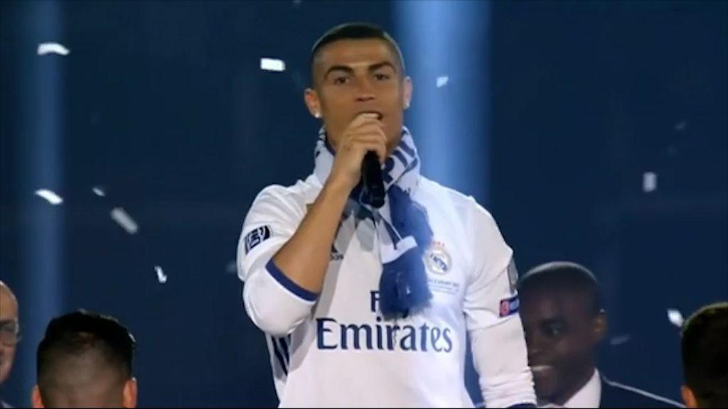 Ronaldo chants for himself to win Ballon d'Or