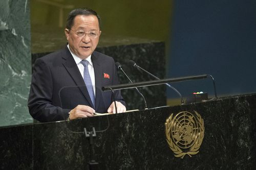 North Korean foreign minister Ri Yonh Ho wants the UN to move past 'entrenched hostility' in order to restart stalled negotiations.