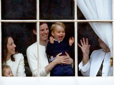 Trooping the Colour: Prince George's cheeky moment
