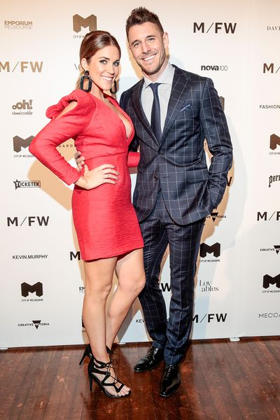 Georgia Love and Lee Elliott at Melbourne Fashion Week September 2018