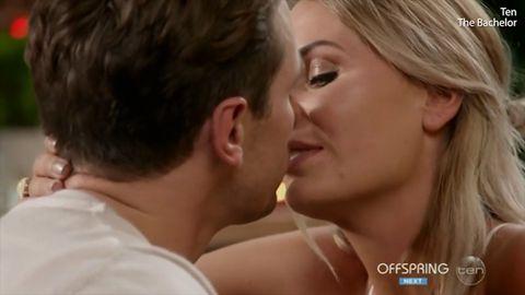 Matty kisses Florence on The Bachelor