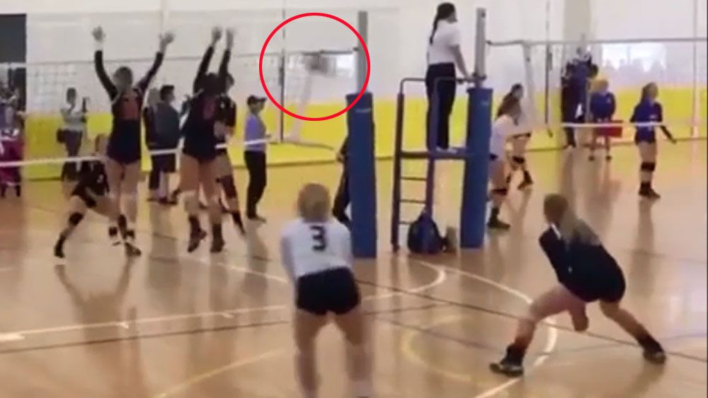 Volleyballer wins point with 'falcon'