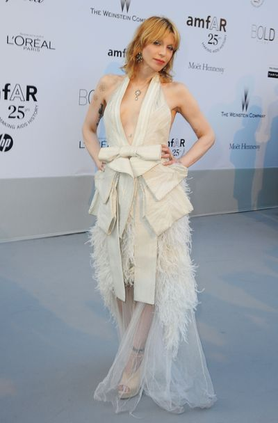 Courtney Love at amfAR's Cinema Against AIDS Gala during the 64th Annual Cannes Film Festival in France in 2011.