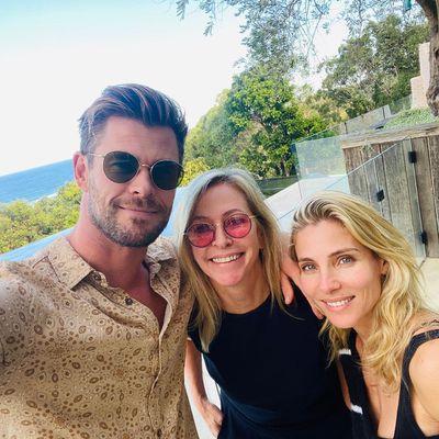 Chris Hemsworth, Leonie Hemsworth and Elsa Pataky