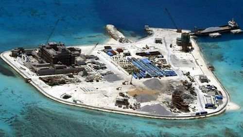 One of the disputed reefs in the South China Sea Beijing is militarising. (Photo: AP).