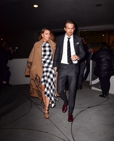 Blake Lively and Ryan Reynolds leave the<em> Final Portrait</em> New York screening at Guggenheim Museum on March 22, 2018 in New York City