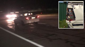 A man rammed off the road south of Perth said he's been left stumped by the apparently random attack.