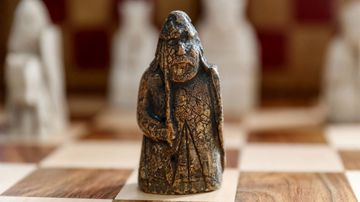 This ivory chess piece is part of a set dating back to the 12th century.