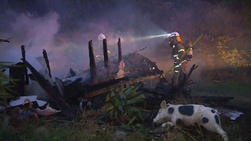 Firefighters said it was the biggest blaze in Sellicks Beach in 18 months.
