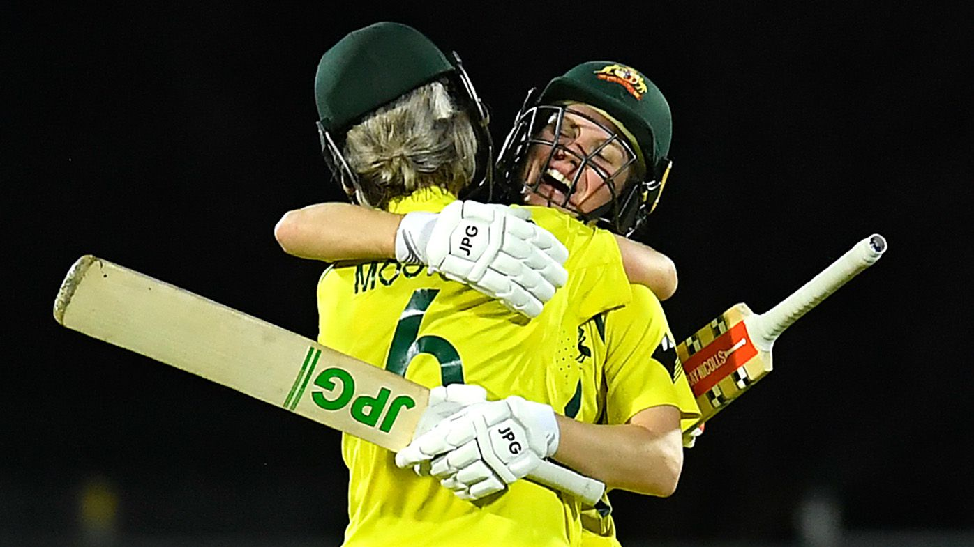 Beth Mooney ton spearheads epic Aussie comeback as hosts clinch 26th ODI win in a row in controversial scenes
