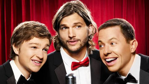 Behind the scenes footage: Ashton Kutcher gets silly on a photo shoot for Two-and-a-Half-Men