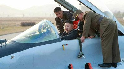 <p><b>Kim Jong Un: Fighter Pilot</b></p>Kim Jong Un claims to be a great military general, yet he is the only military commander in the world with no military experience. (AP)