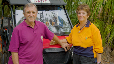 Bev and Nev have been travelling to Wreck Rock on Queensland's Coast for over 40 years in pursuit of turtle conservation and protection on My Way.