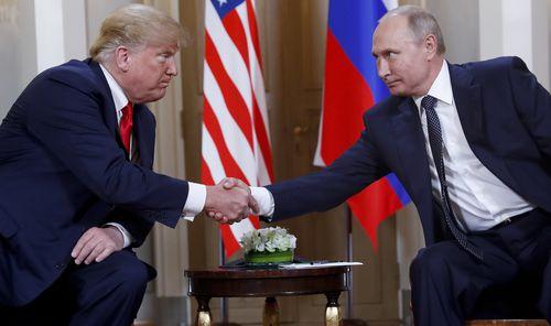Donald Trump has defended his meeting with Vladimir Putin.