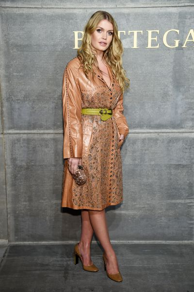 Kitty Spencer in Bottega Veneta at the Bottega Veneta Fall/Winter 2018 fashion show in New York, February, 2018