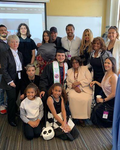 Prince Jackson and Jackson family at graduation