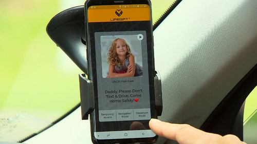 The app sends a pre-set audio message from a loved one if a driver touches their phone.