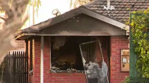 The fire is believed to be deliberately lit after an argument with a neighbour.