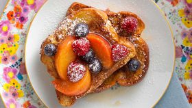 Peach and berries french toast