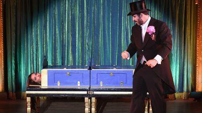 <p>Adriana Lima tries her hand at magic.</p>