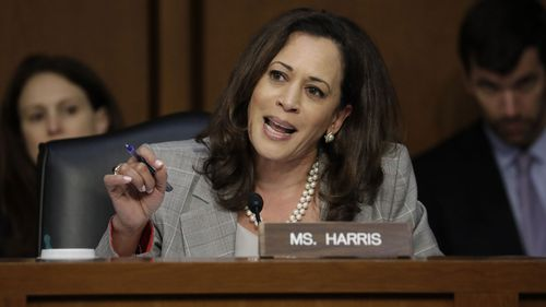 Democrat Kamala Harris is jostling to be US president.