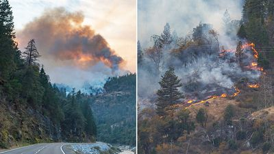 Southern California wildfire roars back to life