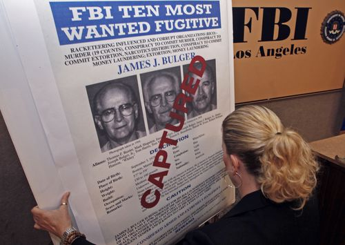 Bulger was on the run for 16 years before being captured.