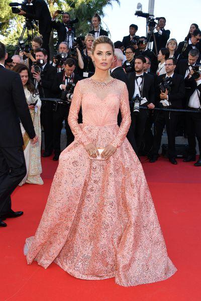 Russian television presenter Victoria Bonya at the 2017 Cannes Film Festival