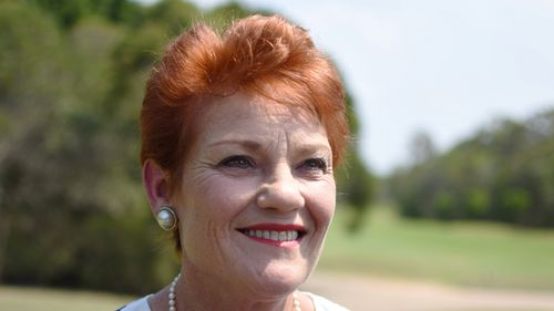 One Nation leader Pauline Hanson. (AAP)