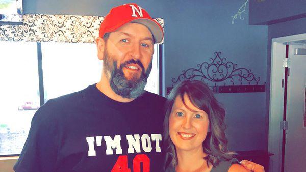 Crystal Sauser and late husband Eric