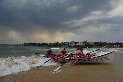 Storm clouds move over Bondi Beach in Sydney, Monday, November 25, 2019.