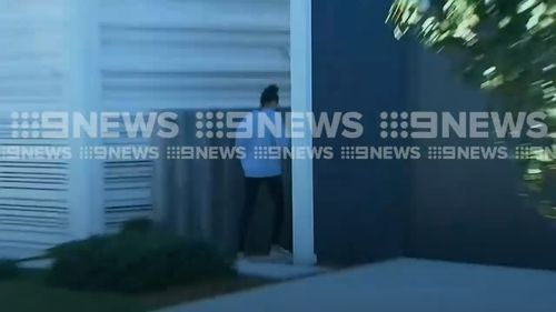 Huegill is accused of taking the pants from a boutique in Byron Bay. Picture: 9NEWS