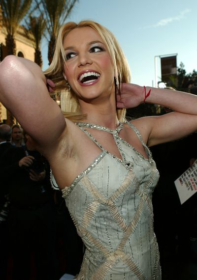 Singer Britney Spears at the 31st Annual American Music Awards in Los Angeles in 2003
