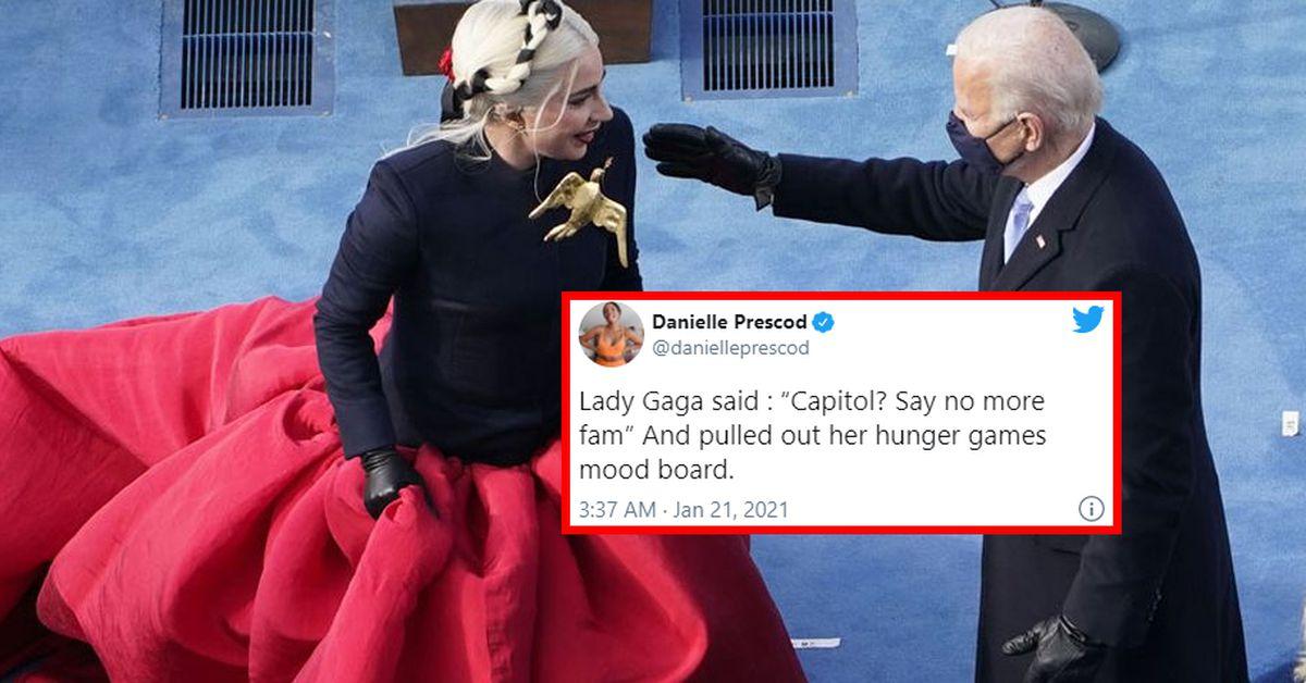 Twitter is loving Lady Gaga's Hunger Games look at Joe Biden's inauguration – 9TheFIX