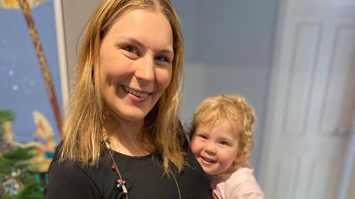 Tamara Bluhm, pictured with her daughter, was told her husband could not attend her ultrasound next week.