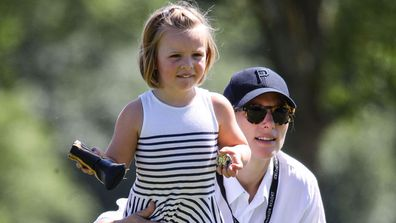 Zara Tindall with daughter Mia