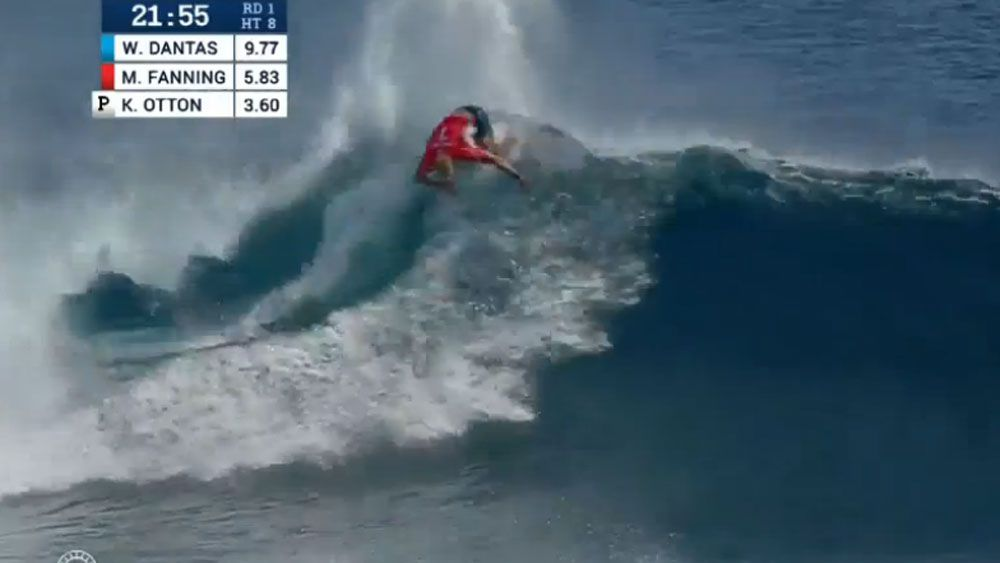 Mick Fanning in action at the Fiji Pro. (Supplied)