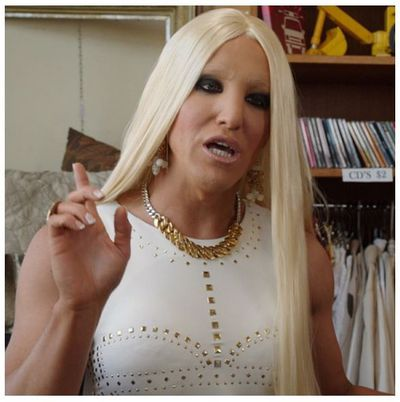 <p><strong>3. Donatella Versace</strong></p> <p>Step 1. Add fake tan. Step 2. Add more fake tan. Step 3. Are you out of fake tan? With an ironed blonde wig and skintight dress, you're ready to be Donatella for a night.</p> <p>Actor Ben Gerrard from Open Slather has never been seen in the same room as the designer. Coincidence?</p> <p></p>