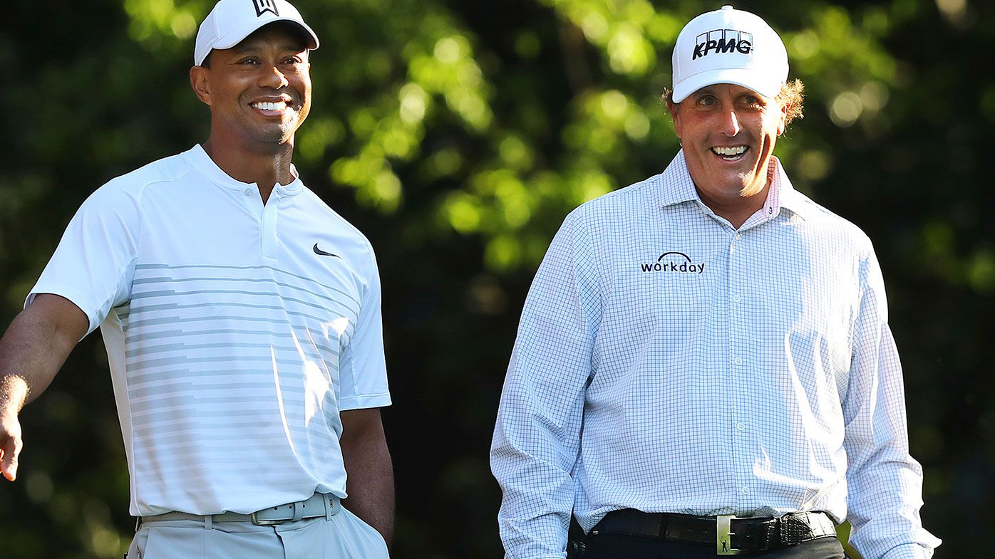 Tiger Woods (left) and Phil Mickelson