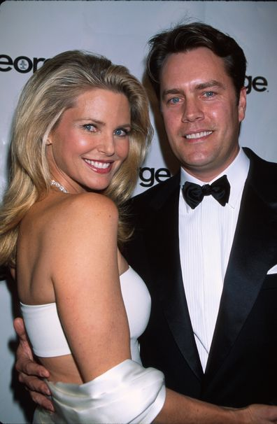 Model Christie Brinkley and husband, architect Peter Cook, in 2000