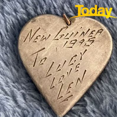 The WWII love charm was found in Kyogle, NSW.