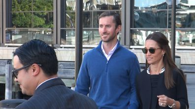 Pippa Middleton touches down in Sydney for honeymoon