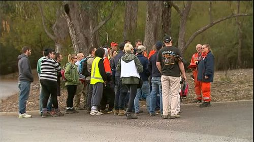 The search parties have included police officials, SES volunteers and campers. (9NEWS)