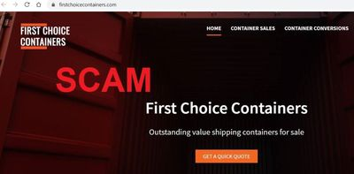 Warning over fake shipping container website scam