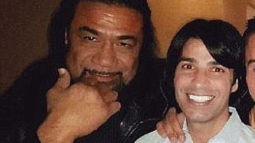 Semi 'Tongan Sam' Ngata with Fadi Ibrahim.