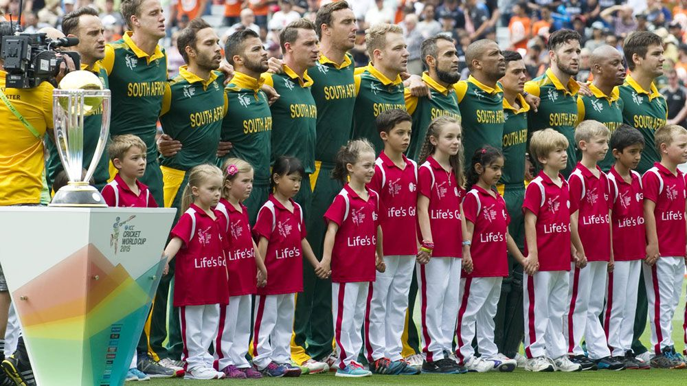 South Africa's cricket team has been named among a host of international teams not meeting race targets. (AFP)