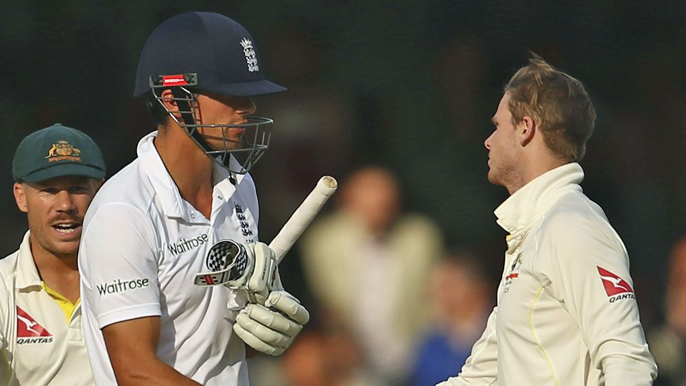 Alastair Cook and Steve Smith. (AAP)
